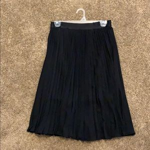 Pleated Black Dress Skirt